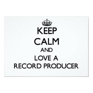 Keep Calm and Love a Record Producer Custom Invites