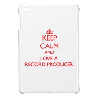 Keep Calm and Love a Record Producer iPad Mini Cover