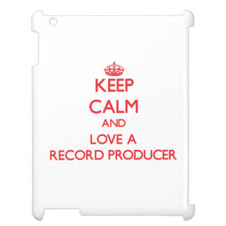 Keep Calm and Love a Record Producer iPad Case
