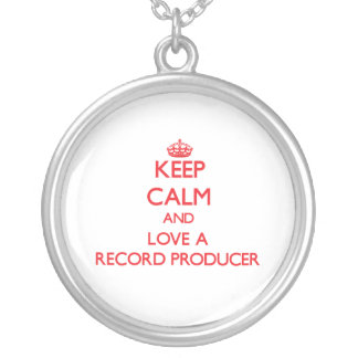 Keep Calm and Love a Record Producer Necklaces