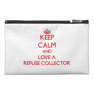 Keep Calm and Love a Refuse Collector Travel Accessories Bags