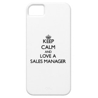 Keep Calm and Love a Sales Manager iPhone 5 Covers