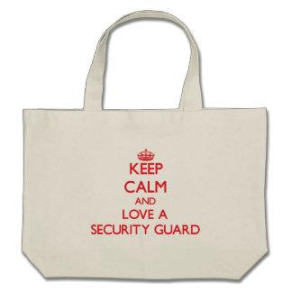 Keep Calm and Love a Security Guard Canvas Bag