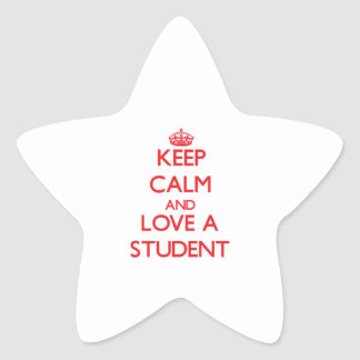 Keep Calm and Love a Student Stickers
