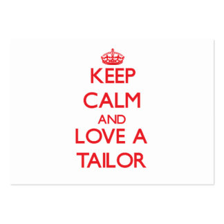 Keep Calm and Love a Tailor Business Card Template