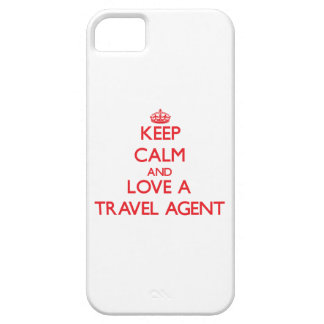 Keep Calm and Love a Travel Agent iPhone 5 Case
