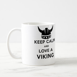 Keep Calm and Love a Viking mug - Left handed