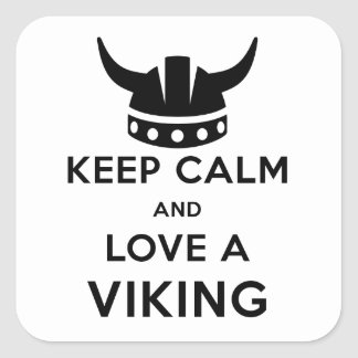 Keep Calm and Love a Viking sticker - square