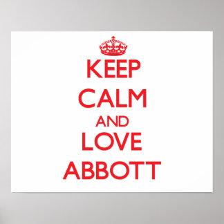 Keep calm and love Abbott Print