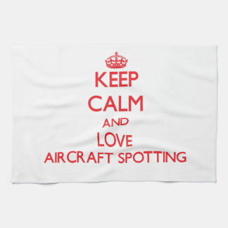 Keep calm and love Aircraft Spotting Towels