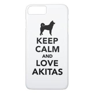 Keep calm and love Akitas iPhone 7 Plus Case