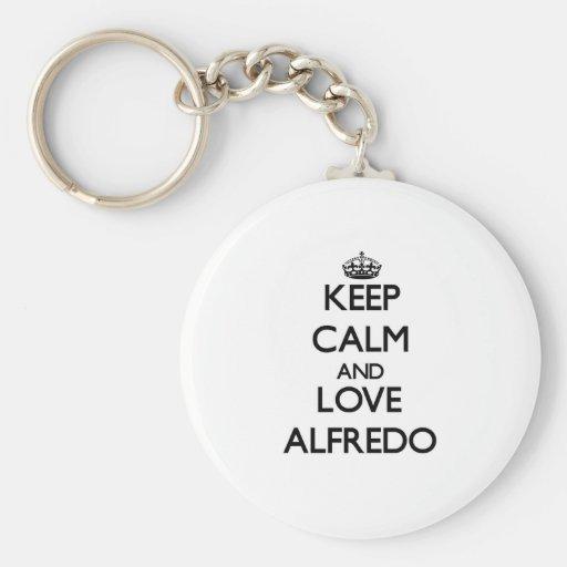 Keep Calm and Love Alfredo Keychain