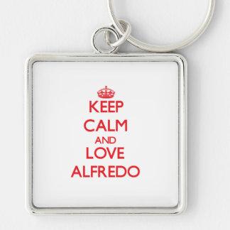 Keep Calm and Love Alfredo Key Chain