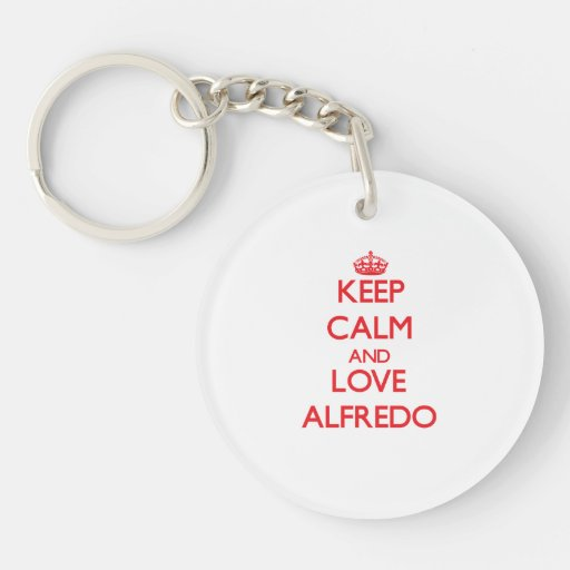Keep Calm and Love Alfredo Keychains