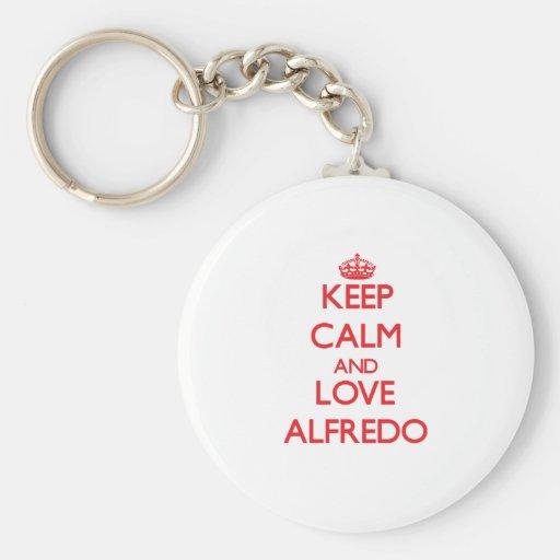 Keep Calm and Love Alfredo Key Chains