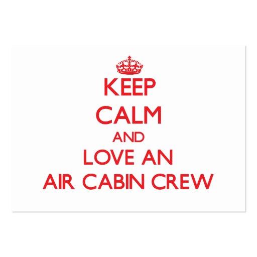 Keep Calm and Love an Air Cabin Crew Business Cards