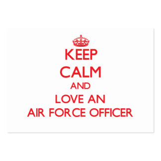 Keep Calm and Love an Air Force Officer Business Cards