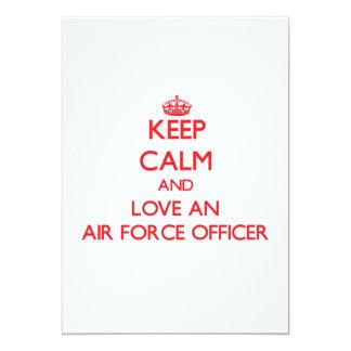 Keep Calm and Love an Air Force Officer Custom Announcement