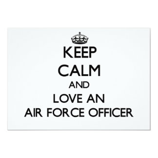 Keep Calm and Love an Air Force Officer Invitations