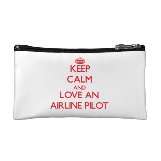 Keep Calm and Love an Airline Cosmetic Bags