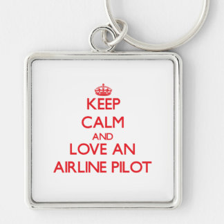 Keep Calm and Love an Airline Key Chains