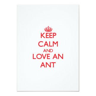 Keep calm and love an Ant 13 Cm X 18 Cm Invitation Card