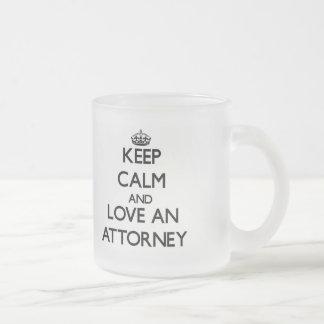 Keep Calm and Love an Attorney Coffee Mug