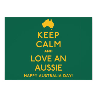 Keep Calm and Love an Aussie! 13 Cm X 18 Cm Invitation Card