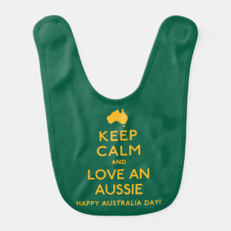 Keep Calm and Love an Aussie! Bib