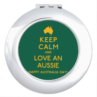 Keep Calm and Love an Aussie! Compact Mirror