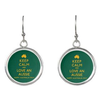 Keep Calm and Love an Aussie! Earrings