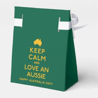 Keep Calm and Love an Aussie! Favour Box