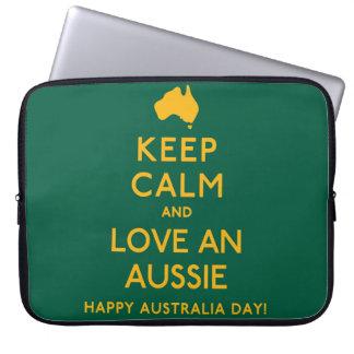 Keep Calm and Love an Aussie! Laptop Computer Sleeve
