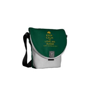 Keep Calm and Love an Aussie! Messenger Bag