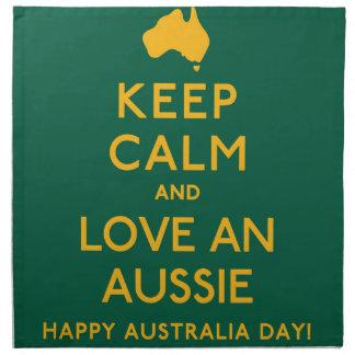 Keep Calm and Love an Aussie! Napkin