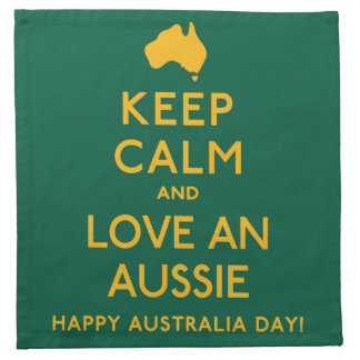 Keep Calm and Love an Aussie! Napkin
