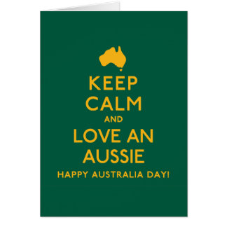 Keep Calm and Love an Aussie! Note Card