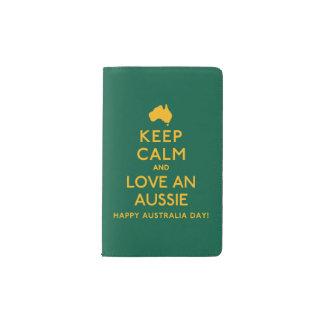 Keep Calm and Love an Aussie! Pocket Moleskine Notebook