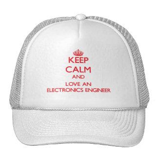 Keep Calm and Love an Electronics Engineer Mesh Hat