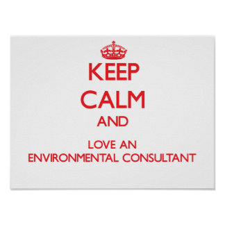 Keep Calm and Love an Environmental Consultant Poster