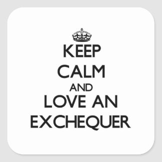 Keep Calm and Love an Exchequer Square Sticker