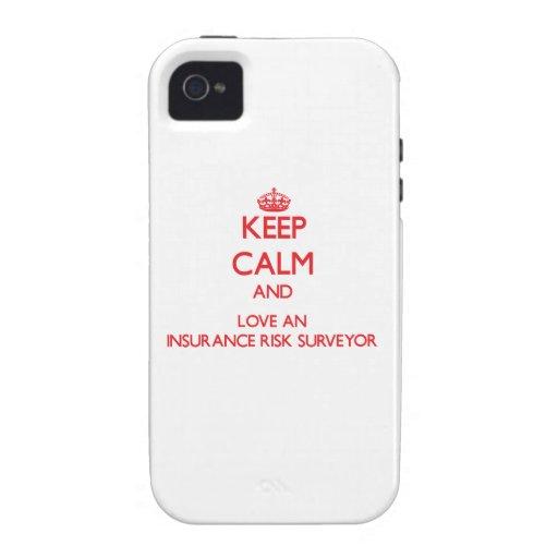 Keep Calm and Love an Insurance Risk Surveyor Vibe iPhone 4 Cover