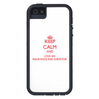 Keep Calm and Love an Insurance Risk Surveyor iPhone 5 Cover