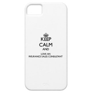 Keep Calm and Love an Insurance Sales Consultant iPhone 5 Cover