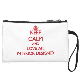Keep Calm and Love an Interior Designer Wristlet Purses