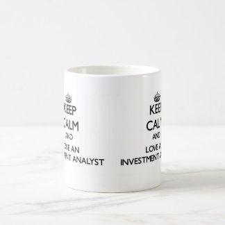 Keep Calm and Love an Investment Analyst Basic White Mug