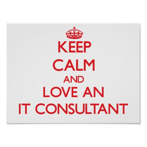 Keep Calm and Love an It Consultant Poster