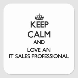 Keep Calm and Love an It Sales Professional Stickers