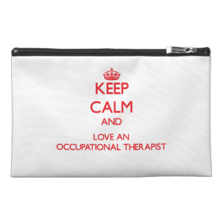 Keep Calm and Love an Occupational Therapist Travel Accessories Bag