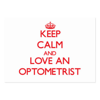 Keep Calm and Love an Optometrist Business Card Template